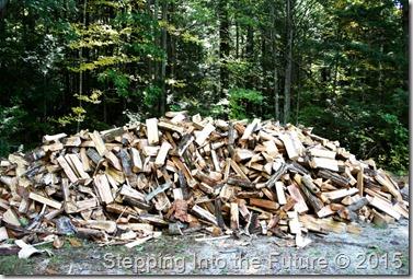 driveway woodpile