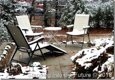 patio in snow