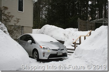 snowbanks & car
